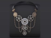 ::OESSO::Steampunk men necklace