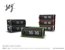 Soy. Retro Flap Clock [addme]