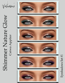 Yokami~Shimmer Nature Glow Eyeshadow Set#1