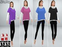 DEMO Minimal Chic Sweater+shirt and Leggings - Fashion Dream