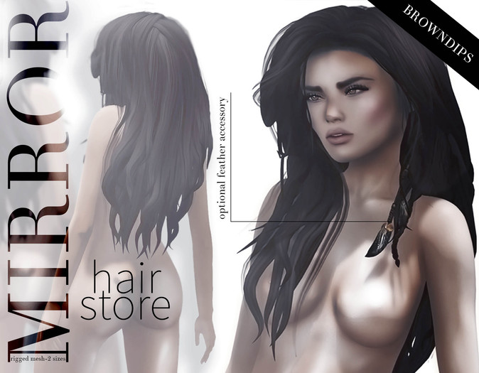 MIRROR - Holly Hair -BrownDIPS Pack-
