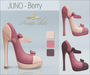 Amacci Shoes - Juno - Berry (Maitreya, Slink, Belleza)