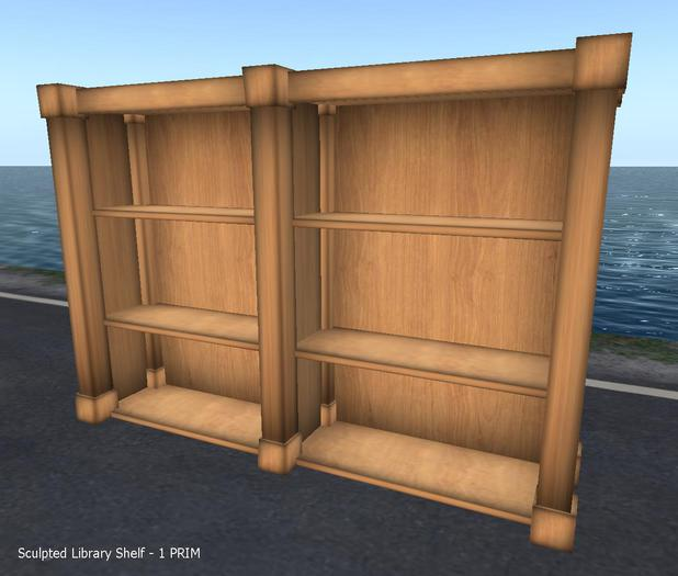 Sculpted Library Shelf 1 Prim FULLPERM