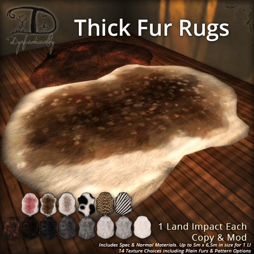[DDD] Thick Fur Rugs - 14 Textures, 2 Shapes!