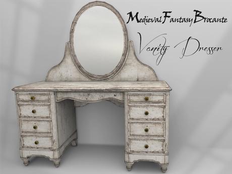 Mf Mesh Shabby Chic Vanity Dresser