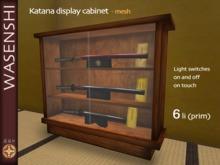 katana sword display cabinet (mesh)