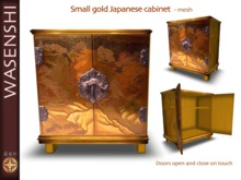 Small japanese gold cupboard