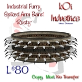 Industrial Furry- Spiked Arm Band - Rusty