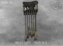 -DRD- Magick Shoppe - Broom Rack