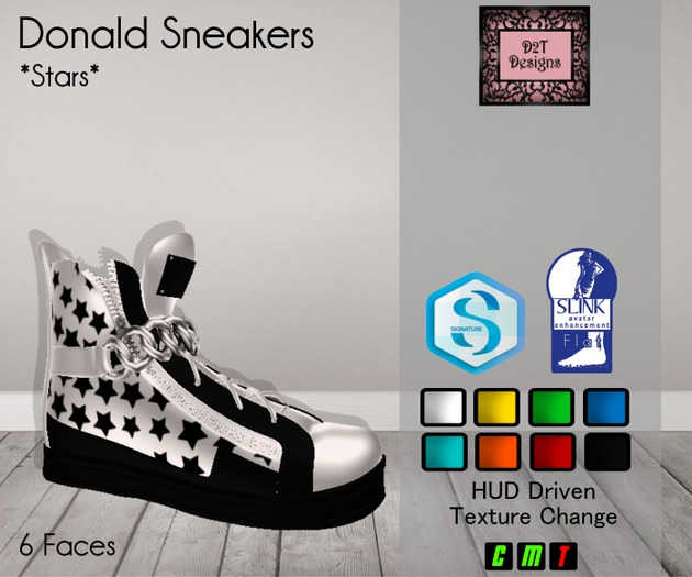 [D2T Designs] Donald Stars Sneakers [boxed]