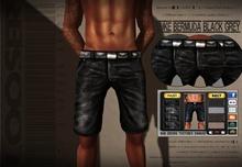 █║▌LOOSER ║▌║® // Luke Bermuda Shorts BLACK AND GREY EDT. // MATERIAL ENABLED // HUD MESH