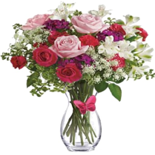 Red & Pink Rose Bouquet
