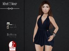 .::.What2Wear.::.  Dress Side Cutouts BLUE