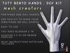 TuTy . Bento Hands Developer's Kit for mesh creators