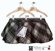 GizzA - Vixie Skater Skirt [Tartan BlackRed - BlackGray]