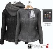 GIZ SEORN - Vixie Sweater [Black - Gray]