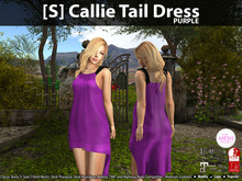 [S] Callie Tail Dress Purple