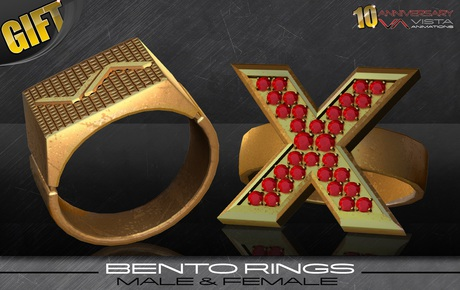 AV GIFT-Vista 10y Commemorative Bento Rings-