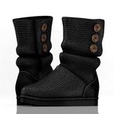 fame femme: Knitted Uggs  - Black