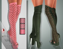 !Soul Mesh - Peep Boots - Tint 11