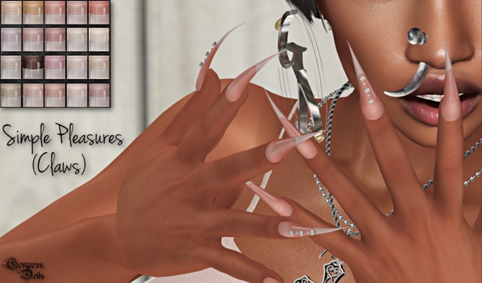 ~GD~Simple Pleasures(Claws) - Slink Dynamic Hands(Bento)