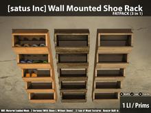 [satus Inc] Wall Mounted Shoe Rack (3 in 1)