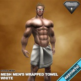 RGDW - Wrapped Towel for Aesthetic - Fitmesh - White