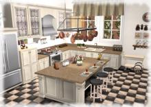 Dinner Party Kitchen Mesh-- Cream and Granite