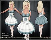 [Wishbox] Alice in Wonderland Costume Dress and Omegas Original Interpretation of a Classic Fairy Tale! Pinafore Pockets