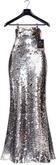 Tres Blah - Bella Sequin Skirt - (Maitreya, Belleza Freya Isis, Slink Physique & Hourglass MESH) Silver