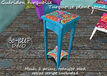 Gueridon turquoise/ Turquoise plant stand