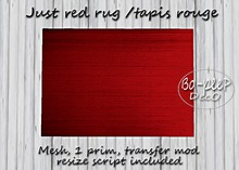 Just red rug/Tapis rouge