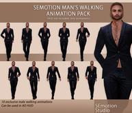 SEmotion Man's Walks Pack - 10 male walking animations