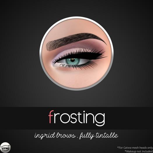 Catwa Makeup .::frosting::. Ingrid Brows - Fully Tintable (Catwa Applier, Catwa Eyebrows, Catwa Makeup)