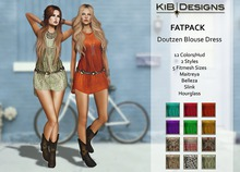 KiB Designs - Doutzen Blouse Dress FATPACK