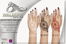 Waldorf Design. Hindu Tattoo