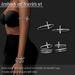 Bracelet armband pack cross platinum