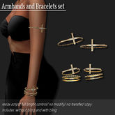 Bracelet/ Armband Pack Cross Gold        -RYCA-