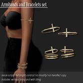 Bracelet/ Armband Pack Cross Gold        -RYCA-
