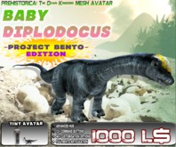 BABY DIPLODOCUS ~ Bento Mesh Dinosaur Avatar ~ Prehistorica: The Dawn Kingdoms ~