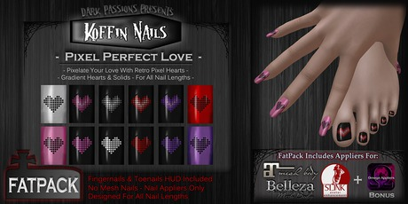 DP - Koffin Nails - FatPack - Pixel Perfect Love