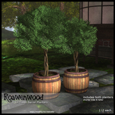 {RW} Lil Trees Barrel Planters