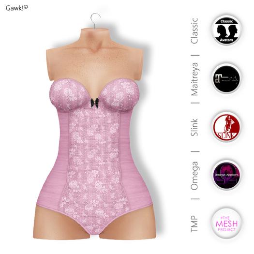 GAWK! Rose Vintage Body | Bom & Appliers for Maitreya, Slink Physique, TMP & Omega System