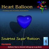 Heart Balloon - Blue - Transfer - Xntra City Balloons