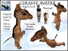 :GG: Giraffe Avatar. Original mesh build. Partially rigged.