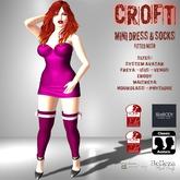 [F] CROFT Pink Mini Dress & Socks w/ Bows