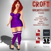 [F] CROFT Purple Mini Dress & Socks w/ Bow