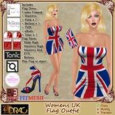 [Drac] Womens UK Flag Outfit - fitmesh + Maitreya + Slink + Belleza + eBody + Tonic dress shoes flag