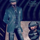 Edward  Blue Mesh  Suit