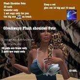20 shoulder pet give aways 1 set for you (bag)